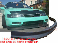 1996 1997 Honda Accord Coupe Sedan HC1 Style Front Bumper Lip Carbon Print NonV6