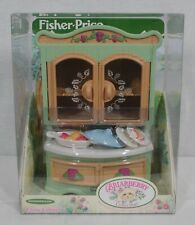 Rare! Discontinued Fisher Price Toys Briarberry Bears China Cabinet Set New