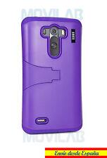 Funda LG D855 / G3 protectora bumper con soporte color Violeta