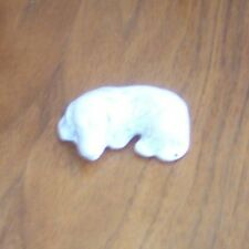 Small Hand Carved Figurine of a Dog Maybe Soapstone, Maybe a Cocker Spaniel