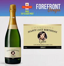 FOTO personalizzata CHAMPAGNE Bottiglia Etichetta, Perfetto Regalo di Compleanno / Regalo Di Nozze