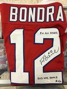 Peter Bondra Autograph Auto Signed Jersey LTD ED Inscribed #11/12 5X AS JSA