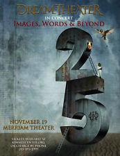"DREAM THEATER ""IMAGES, WORDS & BEYOND 25"" 2017 PHILADELPHIA CONCERT TOUR POSTER"