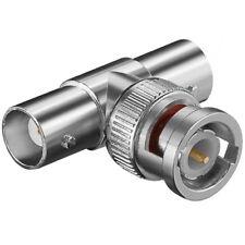 BNC T Adapter Verteiler Splitter Stecker 1 auf 2 Buchse Kupplung weiblich IN OUT