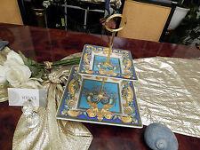 edle riesige Etagere 30 cm 2stufig Rosenthal Versace Les Tresors de la Mer