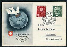 Suisse - Carte de la journée du timbre de Bern en 1945  réf F94
