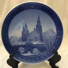 """Royal Copenhagen plate 1956 """"Rosenburg Castle, Copenhagen"""""""