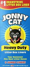 Jonny Cat Cat Litter Bags Resistant To Tearing Easy To Use 5 Liners-Box 1 Pack