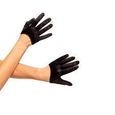 Accessoires Gants de satin Noir - LEG AVENUE