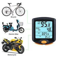 Cycling Bike Bicycle LCD Cycle Computer Odometer Meter Speedometer Waterproof SB