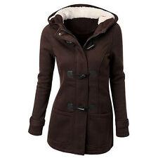Winter Women Warm Wool Blend Coat Jacket Fleece Thicken Casual Outwear S-6XL