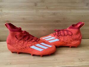 Adidas Adizero Primeknit Football Cleats Solar Red EH1304 Size 10.5
