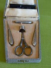 Etui à couture métal argenté ( Napoléon III )