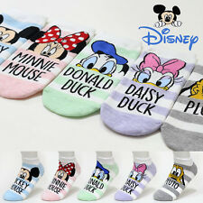 5 Pairs Women Socks Big Kids Cute Mickey Mouse Cartoon Disney Character Socks