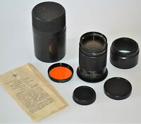 ⭐⭐⭐ 1981 RUSSIAN USSR TELEPHOTO JUPITER-37A f3.5/135mm LENS M42, CASE/GUIDE