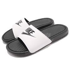 d2a1453aa7de 343880-100 Men s Nike Benassi JDI Slide Sandal White black US 10 UK 9