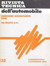 INIEZIONE MONOPUNTO OPEL GM MULTEC SPI SEMANTICA MECCANICA 32 ELETTRONICA AUTO