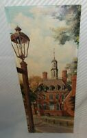 """Art Print By DRUMMOND 17th Century Colonial Virginia Building *Large 30"""" x 12"""" B"""