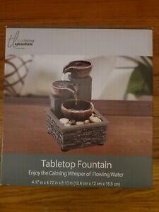 True Living Essentials Tabletop Water Fountain Indoor Decor desk top mantel
