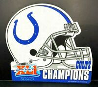 NFL 2007 Indianapolis Colts Super Bowl XLI Champions Die Cut Football Pennant