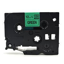 Compatible Etiqueta Cinta tz731 tze731 12mm X 8m Para Brother P-touch Negro Sobre Verde