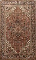 Vintage Traditional Geometric Hand-Knotted Area Rug Oriental Wool Carpet 7x10