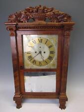 *RARE* ANTIQUE AMERICAN  R.E.NORTHROP 1820s FEDERAL SHELF CLOCK