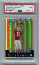 2004 Bowman Chrome Larry Fitzgerald Refractor RC 267/500 PSA 9 Mint (CBF)