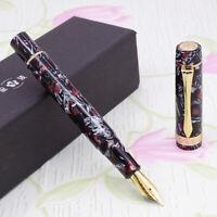 LIY Marble Resin Acrylic Fountain Pen Schmidt Nib & Converter F Gift Box-Huanyan