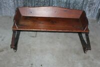 Antique Horse Buggy Carriage Bench Seat Plank Wood Country Farm Barn Decor
