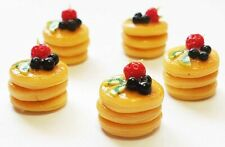 10 Dollhouse Miniature Pancakes with Fruit *Doll Mini Tiny Food Luxury Breakfast