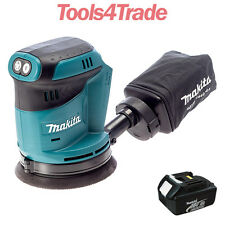 Makita DBO180Z 18V LXT Random Orbital Sander with 1 x 3.0Ah BL1830 Battery