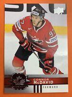 2017-18 Upper Deck Team Canada Hockey #1 Connor McDavid Edmonton Oilers