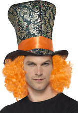 Fancy Dress Fairytale Wonderland Costume Top Hat With Attached Hair Pack Of 3