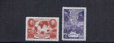 RUSSIA 1950 BELLINGHAUSEN-LAZAREV ANTARCTIC expedition Sc 1508-09 VF MH