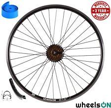 "650b 27.5"" wheelsON Rear Wheel +7 Spd Shimano Freewheel QR Black 36H Double Wall"