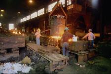 667030 Molten Steel Poured Into Molds Nova Scotia Canada A4 Photo Print