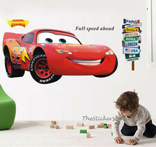 Huge 110cm LIGHTNING MCQUEEN Disney Cars Wall Stickers Removable Art Decal Kids