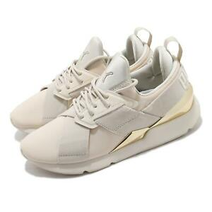 Puma Muse Metal Wns Birch Gold Beige Women Casual Lifestyle Shoes 367047-05