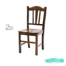 Sedia Silvana con Seduta in Legno Massello color NOCE 2 Pezzi Spedizione GRATIS