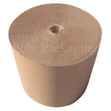 More details for 600mm x 75m (1 roll) corrugated cardboard paper rolls postal packaging parcels