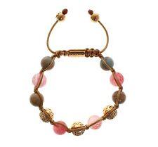 18K Gold 925 Silver Bracelet s. S Nwt $780 Nialaya Women's Cherry Quartz Opal Cz