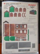 Builder Plus BPN7 Engine Shed with Interior  1970's NOS N Scale