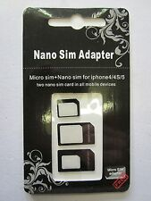 Micro + Carte SIM Nano Adaptateur Kit de conversion pour Apple iPhone 4 / 4S / 5 / 5s / 6