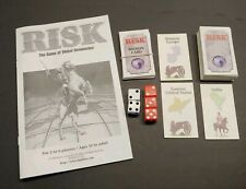 RISK BOARD GAME 1998 PARTS INSTRUCTIONS SET 56 MISSION & TERRITORY CARDS 5 DICE