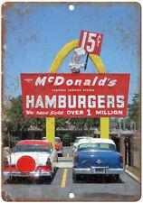 "McDonalds Hamburger Neon Sign Vintage Photo 10"" x 7"" Reproduction Metal Sign N19"