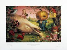 Mark Ryden (singed iconic print ) Pumpkin Head for President