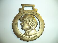 ROYAL WEDDING Lady Diana 1981     Horse Harness Brass England/Collectiable