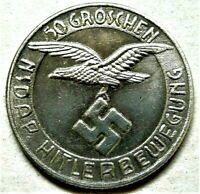 WW2 GERMAN COLLECTORS COIN 50 GROSCHEN NSD  AP KANTINEGELD