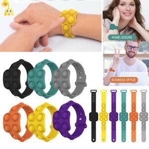 Pop It Fidget Wristband Silicone Toy Push Bubble Stress Relief Kids Tiktok Gift